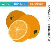 flat design icon of orange in...