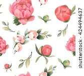seamless vector pattern with... | Shutterstock .eps vector #424494637