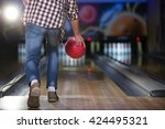 people playing in bowling | Shutterstock . vector #424495321