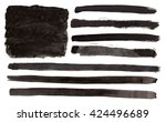 vector watercolor flag of the... | Shutterstock .eps vector #424496689