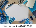 collage view from above. view... | Shutterstock . vector #424498501
