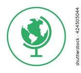 globe icon. globe earth | Shutterstock .eps vector #424505044