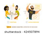 business characters in circle.... | Shutterstock .eps vector #424507894