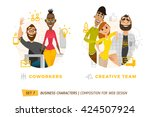 business characters in circle.... | Shutterstock .eps vector #424507924