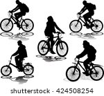 set of 5 silhouettes of the... | Shutterstock .eps vector #424508254