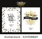 save the date cards  boho...