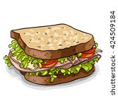 sandwich  color picture | Shutterstock .eps vector #424509184