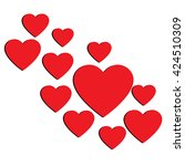 love hearts  a collection of... | Shutterstock .eps vector #424510309