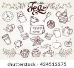White Hand Drawn Tea Time...