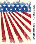 american vintage flag banner. a ... | Shutterstock .eps vector #424519231
