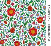 ornate floral seamless texture  ... | Shutterstock .eps vector #424525471