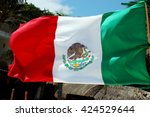 mexican flag | Shutterstock . vector #424529644