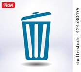 trash can icon  vector eps10... | Shutterstock .eps vector #424530499