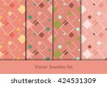 colorful vector seamless... | Shutterstock .eps vector #424531309