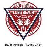 california surfing  long beach... | Shutterstock .eps vector #424532419