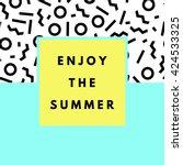 summer hipster boho chic... | Shutterstock .eps vector #424533325