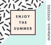 summer hipster boho chic... | Shutterstock .eps vector #424533331