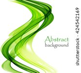 abstract background with wave... | Shutterstock .eps vector #424542169