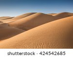 Sand Dunes In Liwa Desert  In...