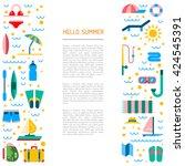 summer icons set for summer... | Shutterstock .eps vector #424545391