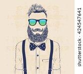 fashion character illustration  ... | Shutterstock .eps vector #424547641