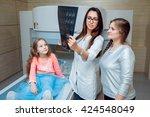 medical equipment. doctor and... | Shutterstock . vector #424548049