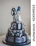 Black Gothic Wedding Cake...