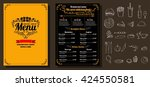 restaurant food menu vintage... | Shutterstock .eps vector #424550581