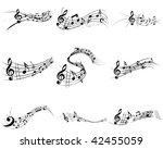 musical notes staff backgrounds ... | Shutterstock . vector #42455059