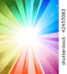 festive rays with many stars | Shutterstock . vector #42455083