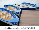 the boats on the boat parking... | Shutterstock . vector #424553464