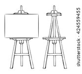wooden painting easel with... | Shutterstock .eps vector #424559455