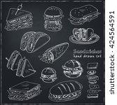 vector set of sandwiches. club... | Shutterstock .eps vector #424564591