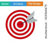 flat design icon of target with ...