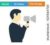 flat design icon of man with...