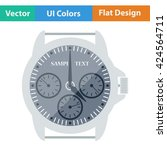 flat design icon of watches ui...