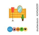 hall interior | Shutterstock .eps vector #424565059