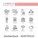 set of modern finance simple...   Shutterstock . vector #424570114