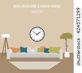 home interior. interior design... | Shutterstock .eps vector #424571299
