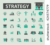 strategy icons  | Shutterstock .eps vector #424574779