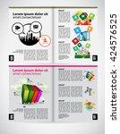 layout magazine  vector | Shutterstock .eps vector #424576525