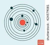 solar system icon. vector... | Shutterstock .eps vector #424579081