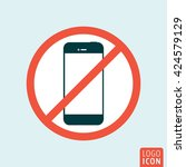 turn off mobile phone icon....