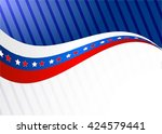 independence day  blue and red... | Shutterstock .eps vector #424579441
