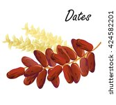 dates. hand drawn vector... | Shutterstock .eps vector #424582201
