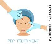 platelet rich plasma facial... | Shutterstock .eps vector #424583251