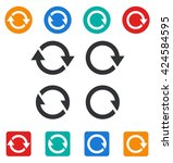set of different sync icons | Shutterstock .eps vector #424584595