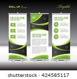green roll up banner template... | Shutterstock .eps vector #424585117