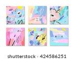 set of creative universal... | Shutterstock .eps vector #424586251