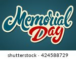 memorial day hand drawn... | Shutterstock .eps vector #424588729